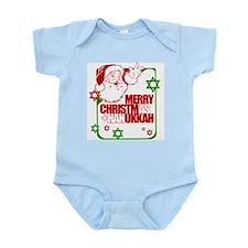 Merry Christmas and Hanukkah ~ Infant Creeper