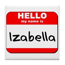 Hello my name is Izabella Tile Coaster
