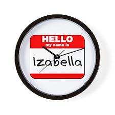 Hello my name is Izabella Wall Clock