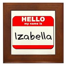 Hello my name is Izabella Framed Tile