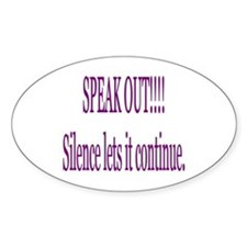 """Speak Out"" Oval Decal"