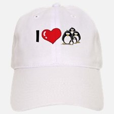 I Love Penguins Baseball Baseball Cap
