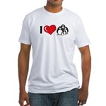 I Love Penguins Fitted T-Shirt