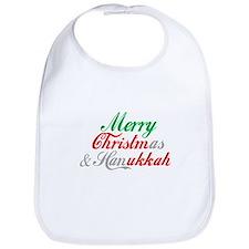 Merry Christmas and Hanukkah ~ Bib
