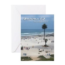 Moonlight Beach on Summer Day Greeting Card