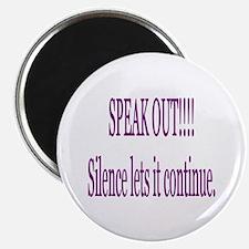 """""""Speak Out"""" 2.25"""" Magnet (10 pack)"""