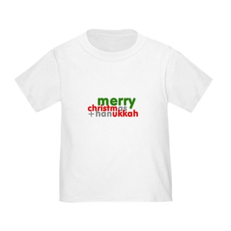 Merry Christmas and Hanukkah ~ Toddler T-Sh