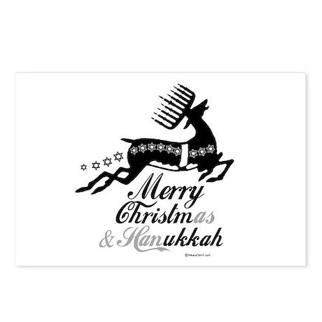 Hanukkah Reindeer ~ Postcards (Package of 8)