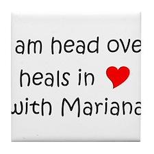 Funny I love mariana Tile Coaster