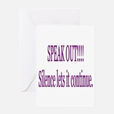 """Speak Out"" Greeting Card"