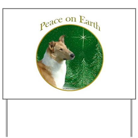 Collie Peace Yard Sign