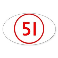 Emergency 51 Oval Decal