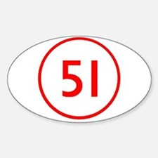 Emergency 51 Oval Stickers