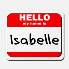 Hello my name is Isabelle Mousepad