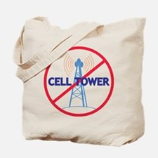 No Cell Tower Tote Bag