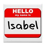 Hello my name is Isabel Tile Coaster