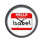 Hello my name is Isabel Wall Clock