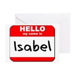 Hello my name is Isabel Greeting Card