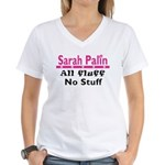 Palin Fluff Women's V-Neck T-Shirt
