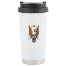 USA Patriotic Eagle Tattoo Travel Mug