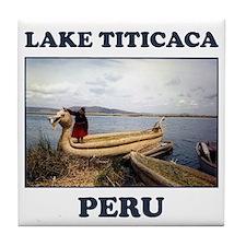 Lake Titicaca Tile Coaster