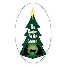 Reason for the Season Oval Bumper Stickers