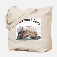 Love French Lop Rabbits Tote Bag