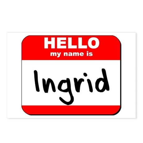 Hello my name is Ingrid Postcards (Package of 8)