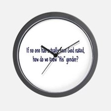 """""""The Naked Truth"""" Wall Clock"""