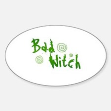 Bad Witch Oval Decal