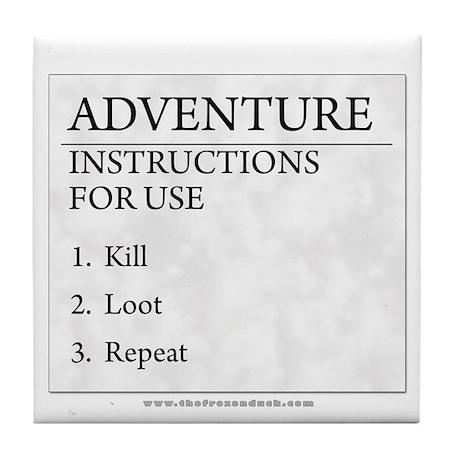 Adventure Instructions Tile Coaster