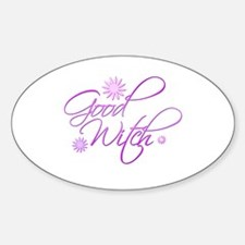 Good Witch Oval Decal