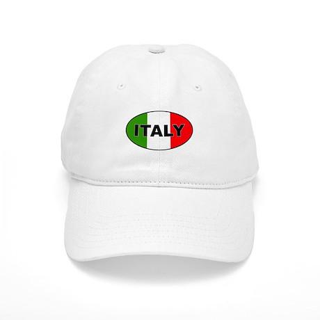 Oval Italian Flag Cap
