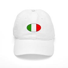 Oval Italian Flag Baseball Cap