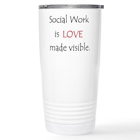 Social Work is Love Stainless Steel Travel Mug