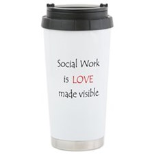 Social Work is Love Travel Mug