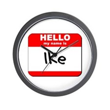 Hello my name is Ike Wall Clock
