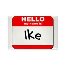 Hello my name is Ike Rectangle Magnet
