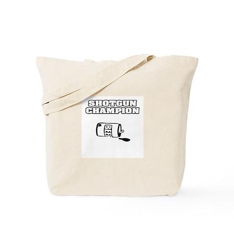 """Shotgun Beer Champion"" Tote Bag"