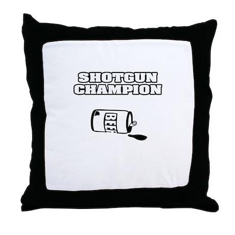 """""""Shotgun Beer Champion"""" Throw Pillow"""