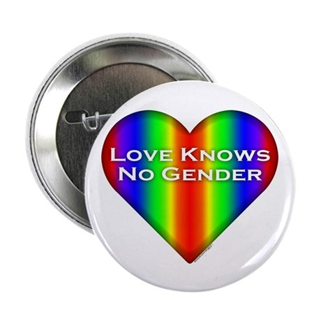 """Love Knows No Gender 2.25"""" Button (10 pack)"""