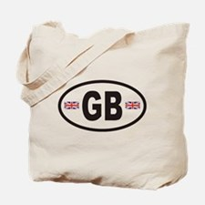 GB Great Britain Euro Style Tote Bag