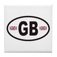 GB Great Britain Euro Style Tile Coaster