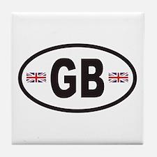 GB Great Britain Euro Style Tile Coaster