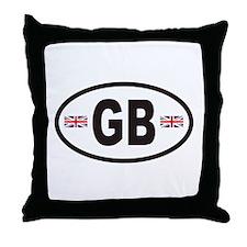 GB Great Britain Euro Style Throw Pillow