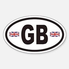 GB Great Britain Euro Style Oval Decal