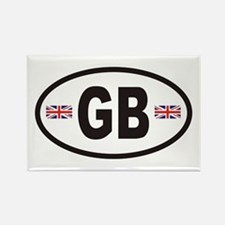 GB Great Britain Euro Style Rectangle Magnet