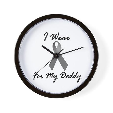 I Wear Grey For My Daddy 1 Wall Clock