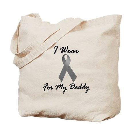 I Wear Grey For My Daddy 1 Tote Bag