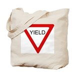 Yield Sign - Tote Bag